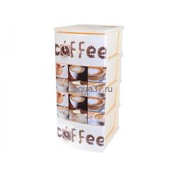 Комод Кофе 4 секции слоновая кость